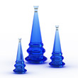 Blue vases set