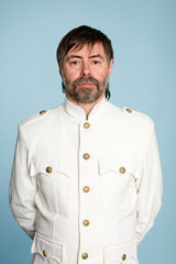 man in form of a naval officer
