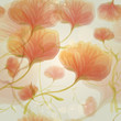 Orange roses in the sunrise / Seamless romantic background