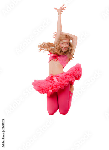 woman dancing jumping