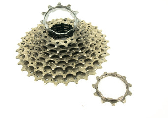 Rear Cassette of a Mountain Bike