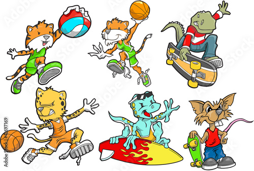 Sport Animal Vector Set