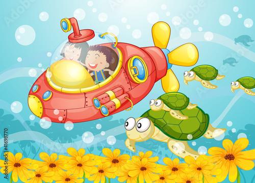 Fotobehang Onderzeeer submarine