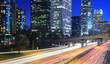 Los Angeles city traffic at night