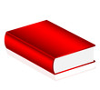 Vector illustration of red book