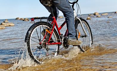 Man with bike.