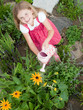 Gardening - Lovely girl watering flowers