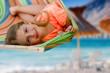 Summer vacation -  lovely girl in beach resort
