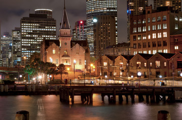 "Sydney ""The Rocks"" At Night"