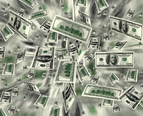 Money dollars background