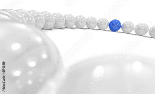 3D Blue Ball Focus 1