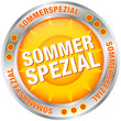 "Button Sonne ""Sommerspezial"" silber/orange"