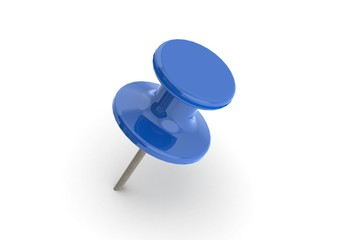 Blue push pin