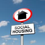 Social housing concept. poster