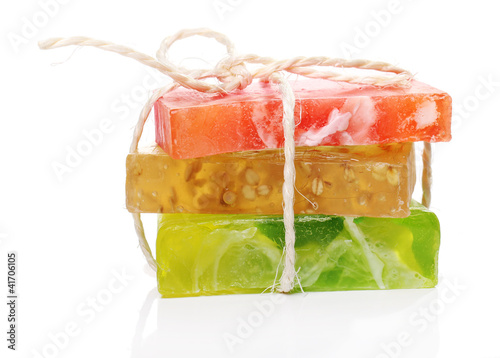 Colorful natural soap