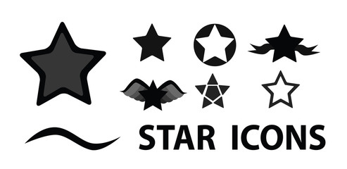 Vector - Art star icons.