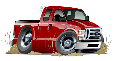 Vector cartoon muscle pickup
