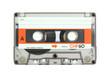Leinwandbild Motiv cassette tape isolated on white with clipping path