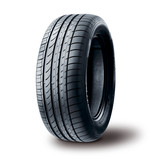 Summer tire on white background