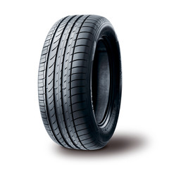 Summer tire on white background