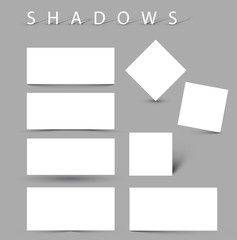 Set of evctor shadow effects