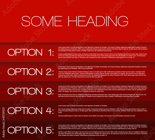 One two three four five - vector options background