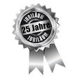 25 Jahre - Jubiläum Silber
