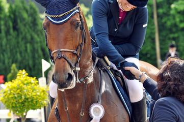 Siegerehrung beim Pferdesport