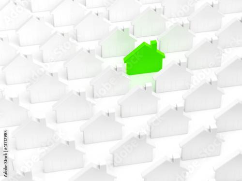 Energie Plus Haus unter Normalen
