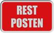 Sticker rot eckig rel RESTPOSTEN