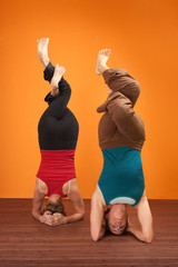 Women In Headstand Posture