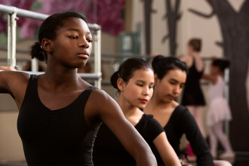 Serious Young Dancers