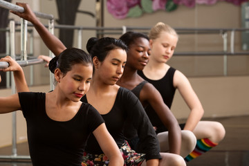 Four Young Ballet Students