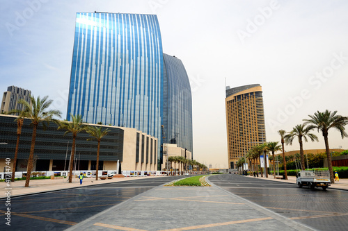Dubai. Downtown and Emaar Towers