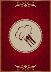 Kırmızı menü kapağı