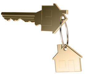Schlüssel zum Eigenheim Gold