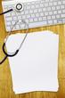 stethoscope keyboard paper