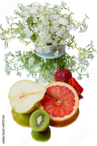 Fruits and white phlox