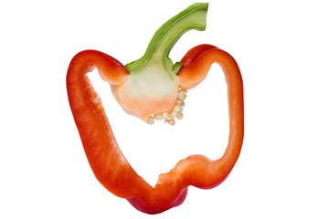 Scheibe einer Paprika