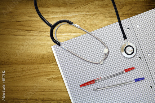 overhead desk stethoscope