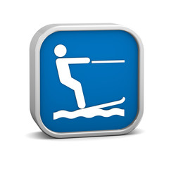Waterskiing sign