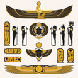 Ancient Egyptian symbols and decorations - 41719334