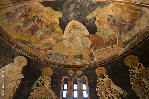 The patriarchs and bishops of the apse wall in Chora Church, Ist