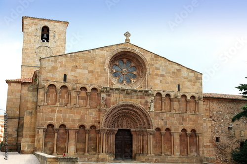 Santo Domingo romanesque church Soria city Castile Spain