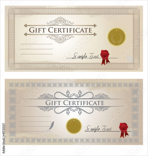 Vector certificate frame