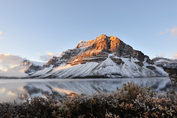 Bow Lake sunrise, Banff National Park