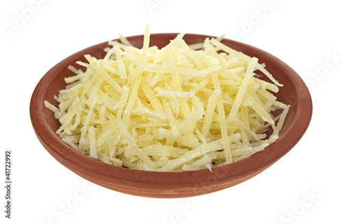Bowl of Parmesan cheese