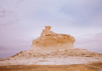 The limestone formation rocks in the White Desert, Egypt