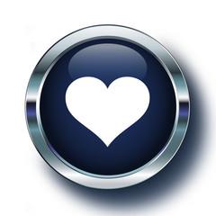Kalp logosu mavi ikonda