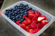 Container with Strawberries and Blueberries
